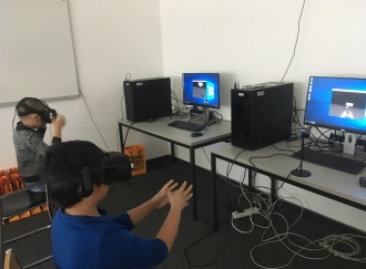 Workshop im Virtual Reality Lab der FH Technikum Wien