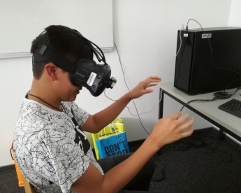 Workshop im Virtual Reality Lab der FH Technikum Wien 2